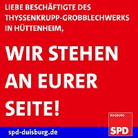 Duisburger SPD ist entsetzt über drohende Schließung des Grobblechwerks in Duisburg-Hüttenheim